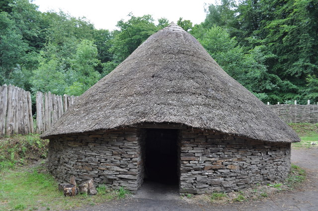 Celtic hut at the Museum of Welsh Life